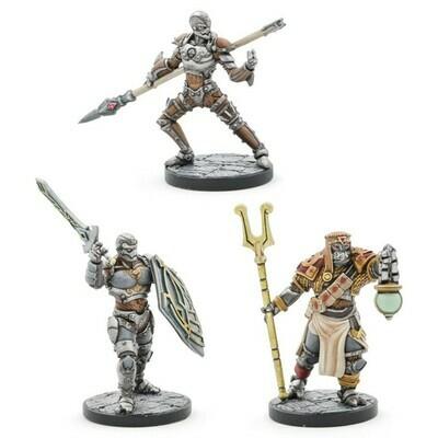 D&D Coll Series: Warforged Monk, Wizard & Fighter