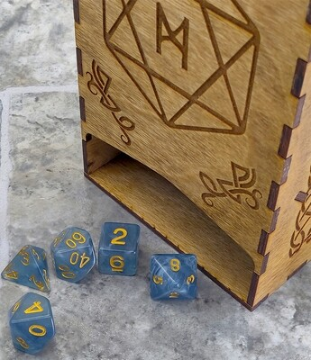 Wooden Dice Tower: