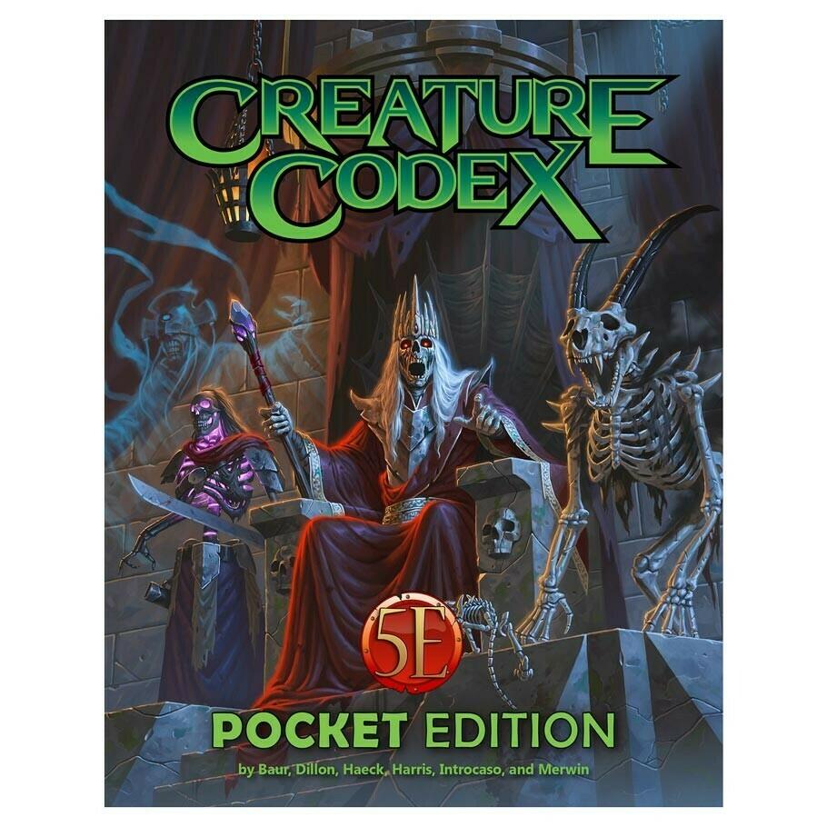 5e: Creature Codex Pocket Edition