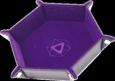Die Hard Dice Hex Tray with Purple Velvet