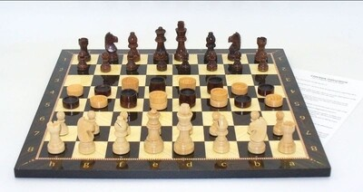 Chess & Checkers Wood Decoupage Set