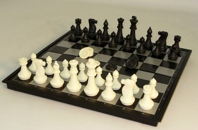 Chess & Checkers Folding Magnetic 14