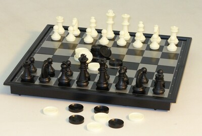 Chess & Checkers Folding Magnetic 12