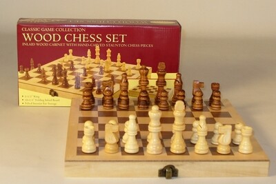 Wood Chess Set Folding 10.5