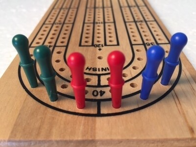 Cribbage Pegs: Standard Tapered Plastic (6)