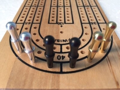 Cribbage Pegs: Standard Tapered Metal (6)