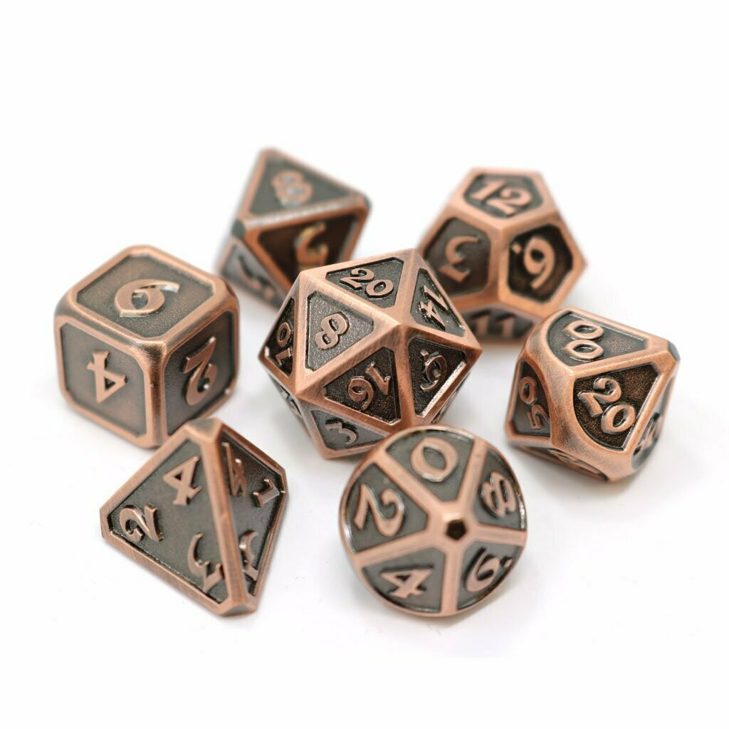 7 Die Metal Set: Mythica Battleworn Copper