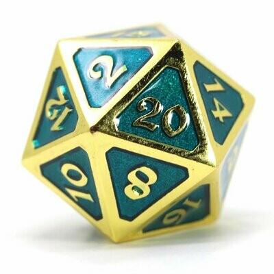 Dire d20: Mythica Gold Aquamarine