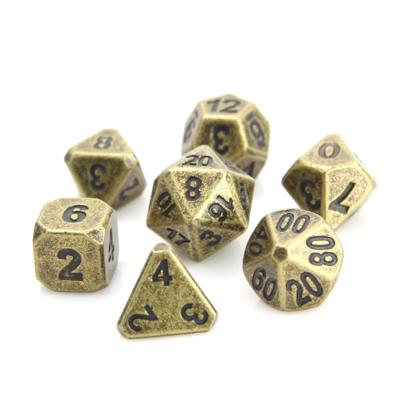 7 Die Metal Set: Forge Ancient Gold