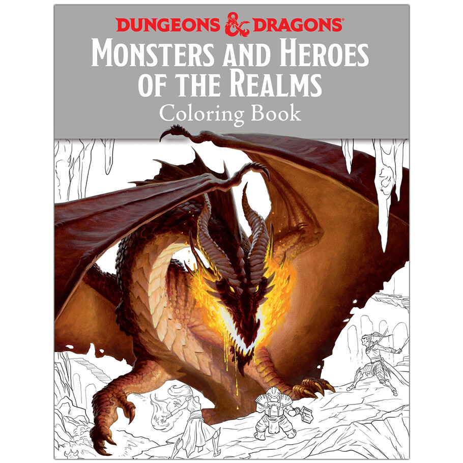 D&D: Monsters and Heroes of the Realms Coloring Book