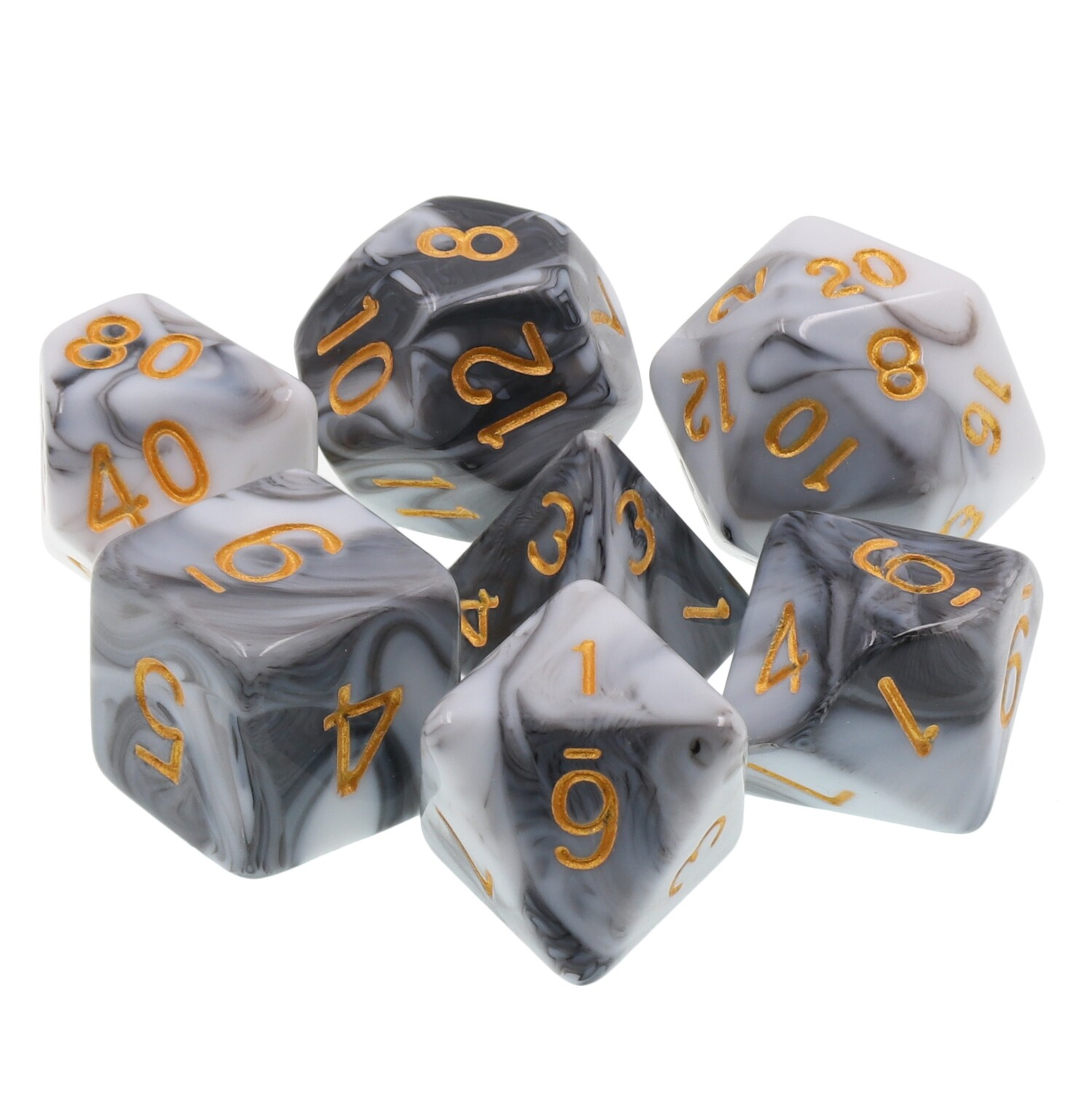 7 Die Set: Darkened Granite