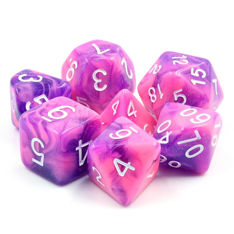 7 Die Set: Purple Whirlwind