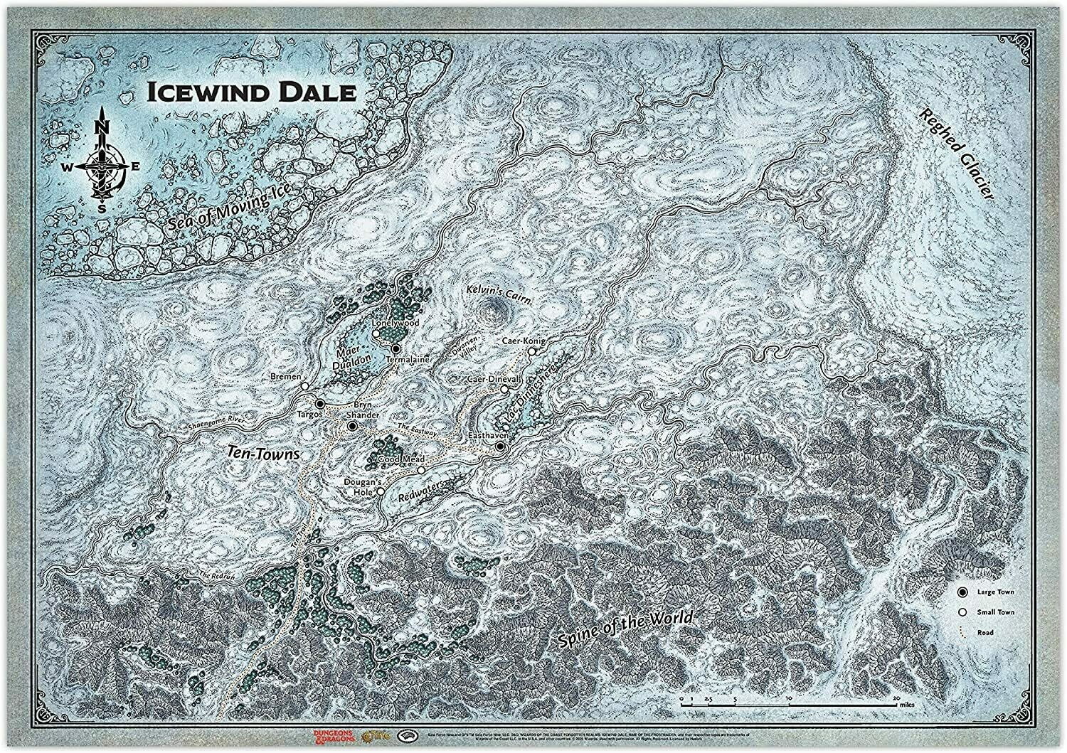 D&D: Icewind Dale: Map