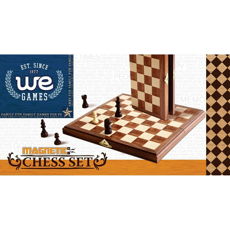 "Chess Magnetic Folding Wood Set 11"""
