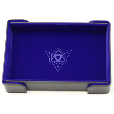 Die Hard Magnetic Dice Tray Rectangle: Blue Velvet