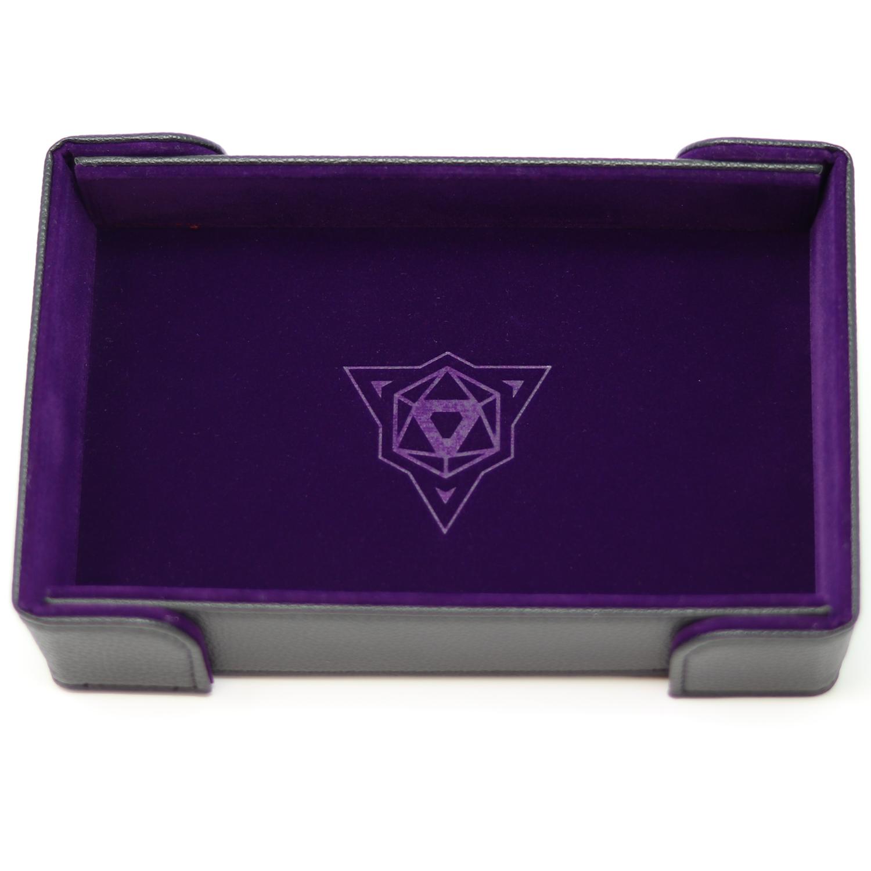 Die Hard Magnetic Dice Tray Rectangle: Purple Velvet