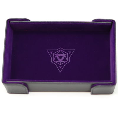 Die Hard Magnetic Dice Tray Rectangle: Purple Velvet