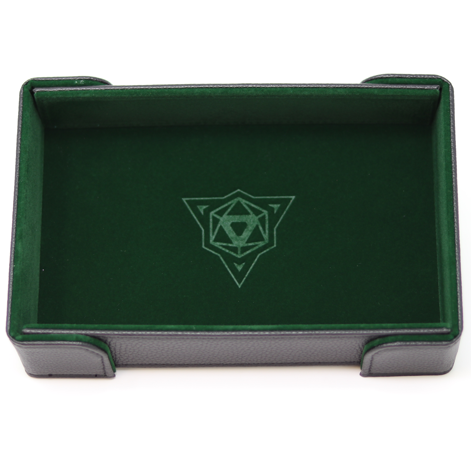 Die Hard Magnetic Dice Tray Rectangle: Green Velvet