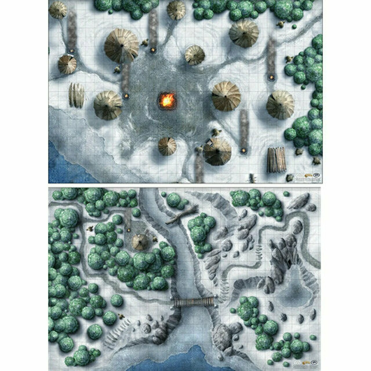 D&D: Icewind Dale Rime of the Frostmaiden Map Set