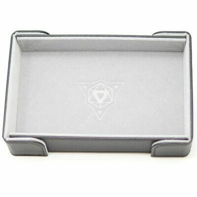 Die Hard Magnetic Dice Tray Rectangle: Gray Velvet