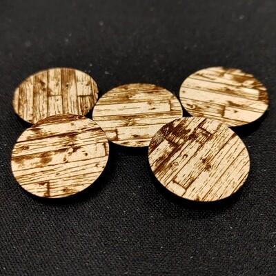 "Laser Cut Bases: Wood Planks 1"" (x5)"