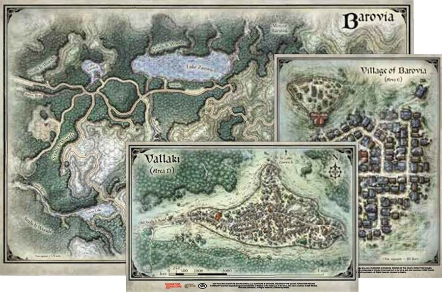 D&D: Curse of Strahd Barovia Map Set