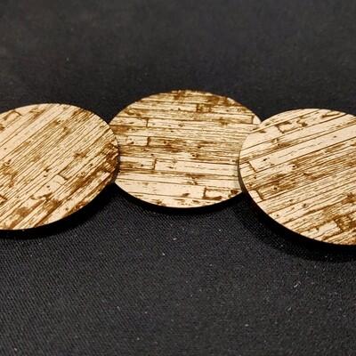 "Laser Cut Bases: Wood Planks 2""  (x3)"