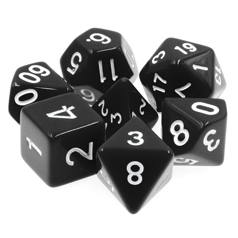 7 Die Set: Opaque Black