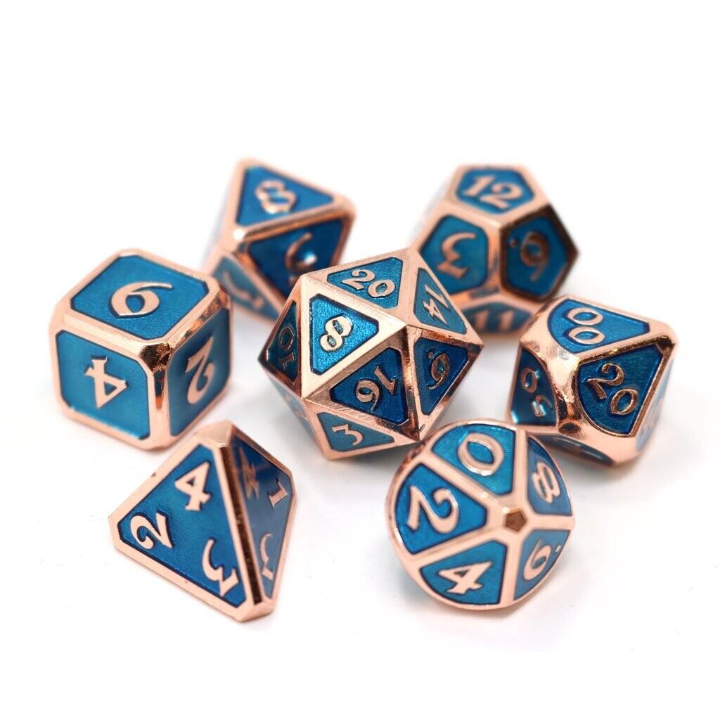 7 Die Metal Set: Mythica Copper Aquamarine