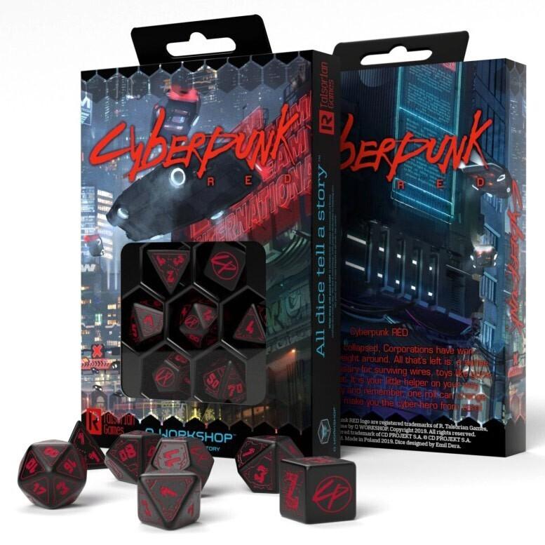 Cyberpunk RPG 7 die set