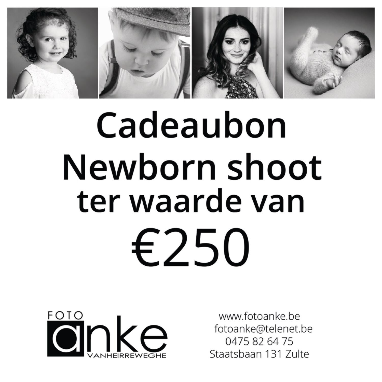 Cadeaubon newborn fotoshoot €250