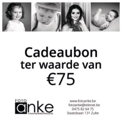 Cadeaubon waarde €75