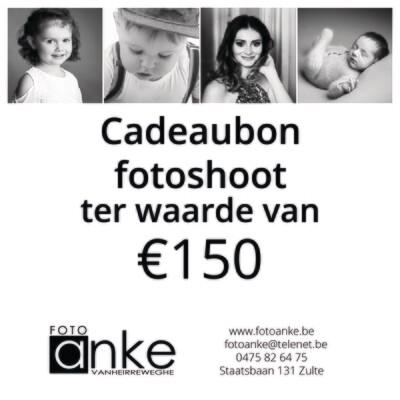 Cadeaubon fotoshoot €150