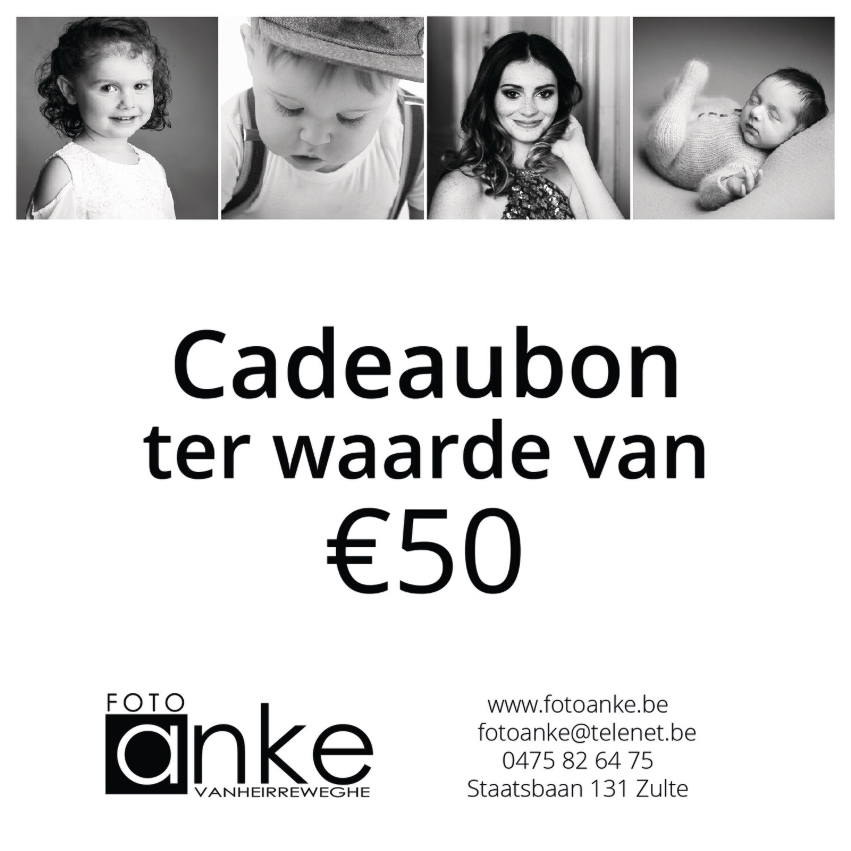 Cadeaubon waarde €50