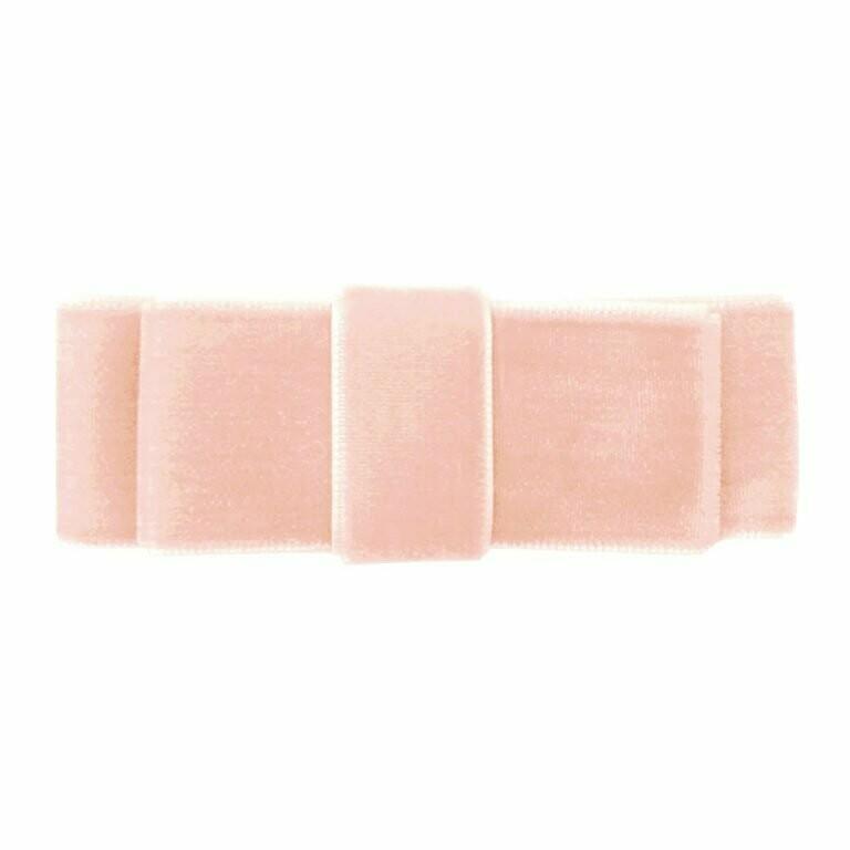 Powder pink dubbele strik - alligator clip