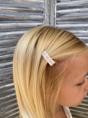 Mini clip met swarovskisteentjes op clip - roze