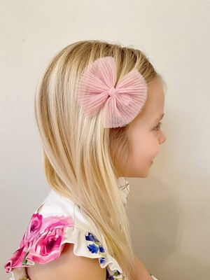 Meia Pata Haarstrikjes in tulle baby pink