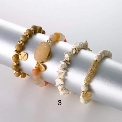Armband hoekig marmerlook