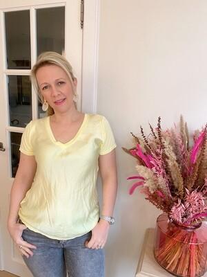 Silk Yellow Shirt