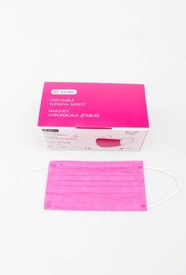 Fuchsia mondmaskers per 50