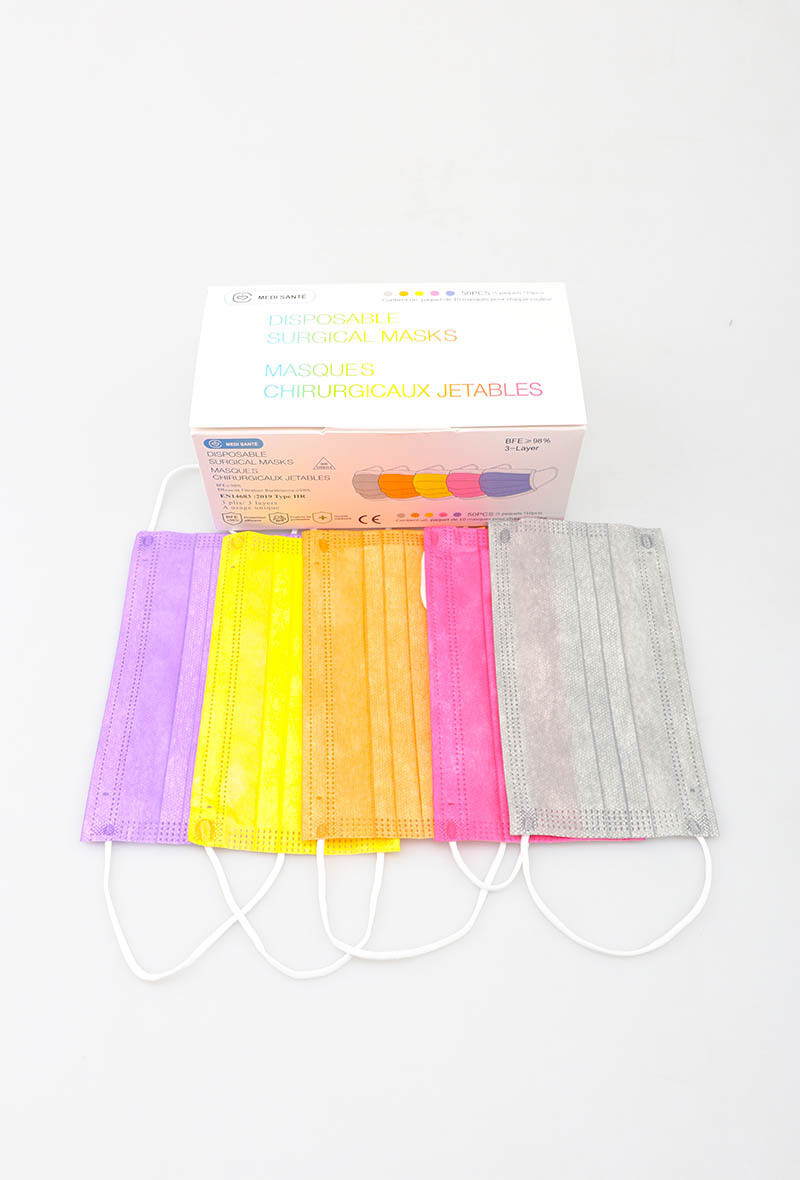 Multicolor mondmaskers per 50