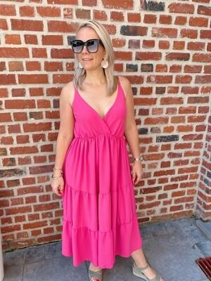 Long summer dress pink
