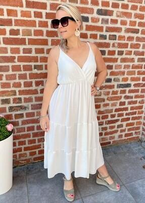 Long summer dress white