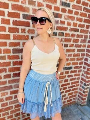 Bohemian skirt blue