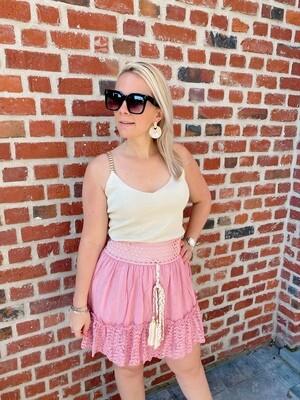 Bohemian skirt pink