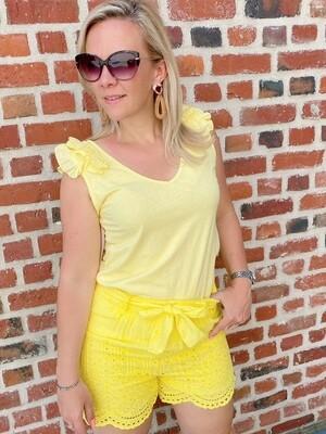 Belle short yellow