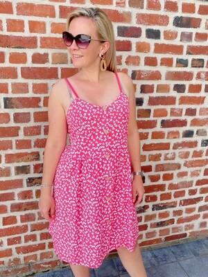 Summer Flowerdress framboise
