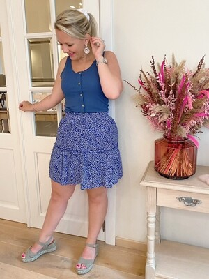 Blue daisy skirt