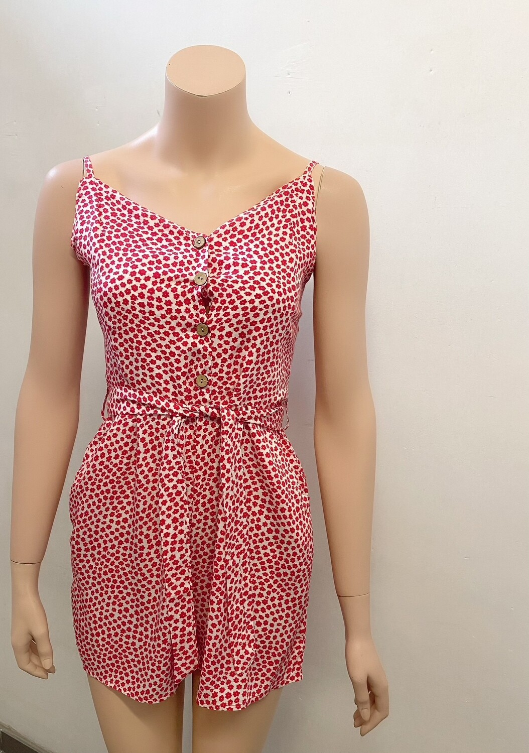 Red daisy jumpsuit