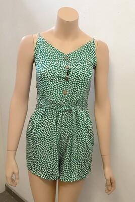 Green daisy jumpsuit